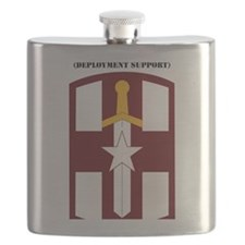 SSI-807TH MEDICAL SUPPORT COMMAND WITH TEXT Flask