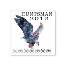 "Huntsman_eagle_republican s Square Sticker 3"" x 3"""