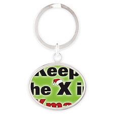 ornxinxmas Oval Keychain