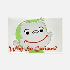 Why so Curious2 Rectangle Magnet