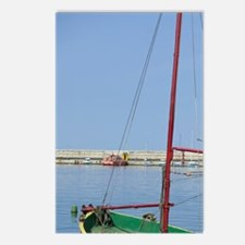 Fishing boat in harbour,  Postcards (Package of 8)