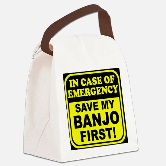 toiletryBanjoER Canvas Lunch Bag