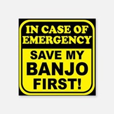 "toiletryBanjoER Square Sticker 3"" x 3"""