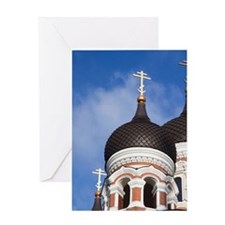 Alexander Nevsky Russian Orthodox Ca Greeting Card
