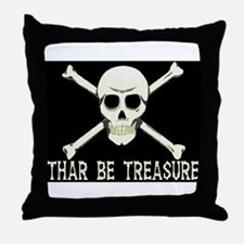 Thar Be Treasure Throw Pillow