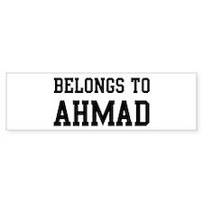 Belongs to Ahmad Bumper Bumper Sticker