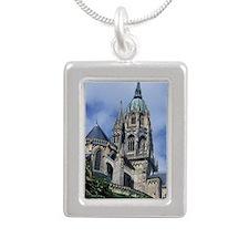 Europe, France, Bayeaux. Silver Portrait Necklace