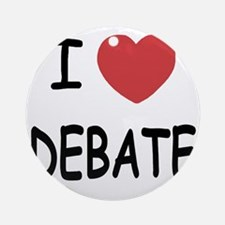 DEBATE Round Ornament