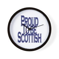 Proud to be Scottish Tartan Text Wall Clock