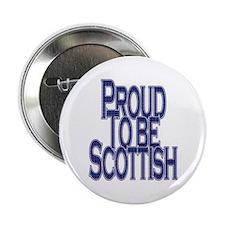 "Proud to be Scottish Tartan Text 2.25"" Button"