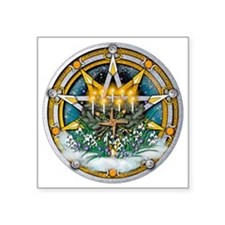 "Imbolc Pentacle Square Sticker 3"" x 3"""