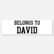 Belongs to David Bumper Bumper Bumper Sticker