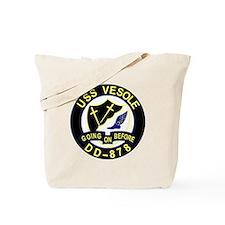DD-878 USS VESOLE Destroyer Ship Military Tote Bag