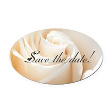 save the date rose Oval Car Magnet