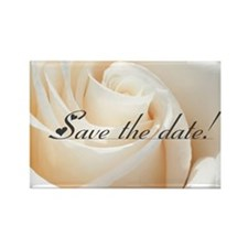 save the date rose Rectangle Magnet
