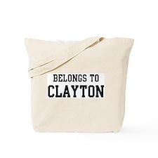 Belongs to Clayton Tote Bag