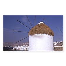 Europe, Greece, Mykonos. Windm Decal