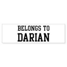 Belongs to Darian Bumper Bumper Sticker