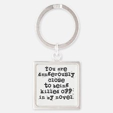 DangerouslyCloseLight Square Keychain