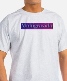 Multigravida Ash Grey T-Shirt