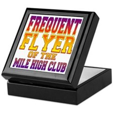 Frequent Flyer of the Mile High Club Keepsake Box