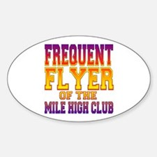 Frequent Flyer of the Mile High Club Decal