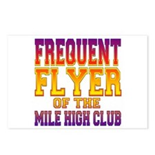 Frequent Flyer of the Mile High Club Postcards (Pa