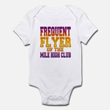 Frequent Flyer of the Mile High Club Infant Bodysu