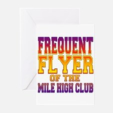 Frequent Flyer of the Mile High Club Greeting Card
