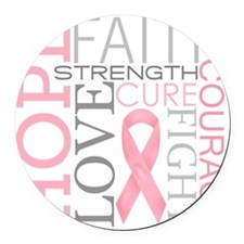 breastcancercollage Round Car Magnet