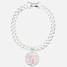 breastcancercollage Charm Bracelet, One Charm