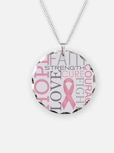 breastcancercollage Necklace