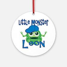 leon-b-monster Round Ornament