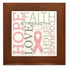 breastcancercollage Framed Tile