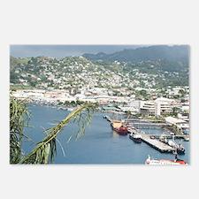 Kingstown Harbor, St. Vin Postcards (Package of 8)