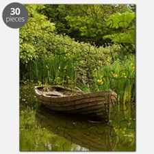 Ireland, County ClareOld boat and pond, Bun Puzzle