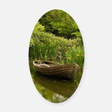 Ireland, County ClareOld boat and  Oval Car Magnet