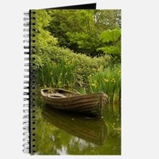 Ireland, County ClareOld boat and pond, Bu Journal