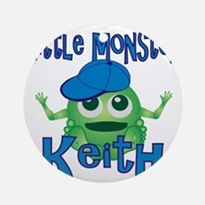 keith-b-monster Round Ornament