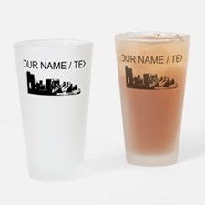 Custom Sydney Australia City Line Drinking Glass