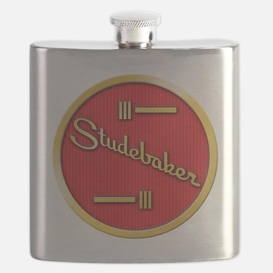 studebaker-horn-emblem Flask