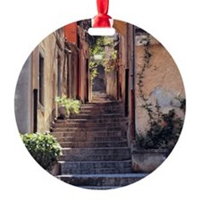 A stairway invites walkers to explo Ornament