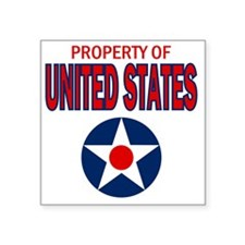 """Property of the United Stat Square Sticker 3"""" x 3"""""""