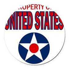Property of the United States Round Car Magnet