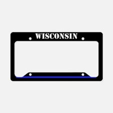 Wisconsin Police License Plate Holder