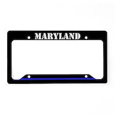 Maryland Police License Plate Holder