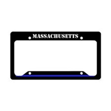Massachusetts Police License Plate Holder