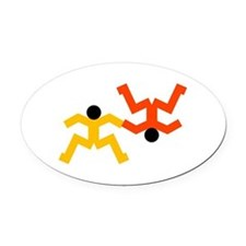 Freefly Skydivers Oval Car Magnet