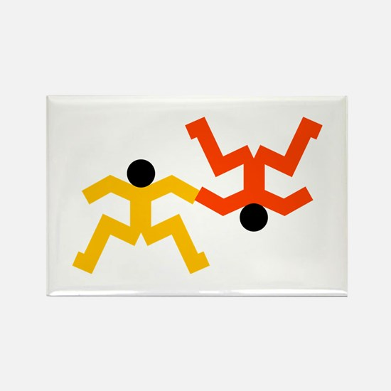 Freefly Skydivers Rectangle Magnet