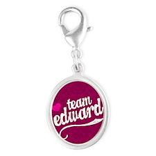 Team Ed Pink Kindle Silver Oval Charm